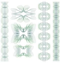 Set of guilloche element vector