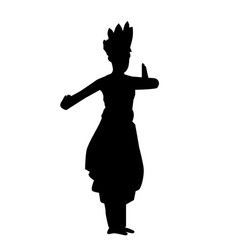 simple silhouette young girl traditional west vector image