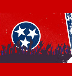 Tennessee state flag with audience vector
