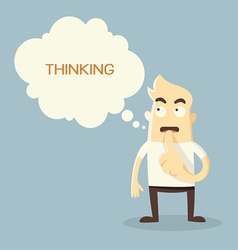 thinking vector image