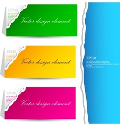 torn paper banners with space for text vector image