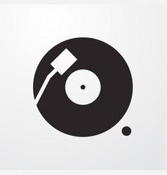 Vinyl icon vector