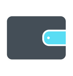 wallet silhouette icon simple minimal pictogram vector image