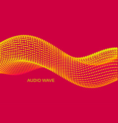 Wavy background array with dynamic particles vector