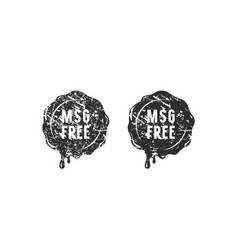 wax seal msg free sign for your label and vector image