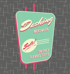1950s storefront style logo design vector