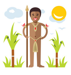 African aborigine flat style colorful vector