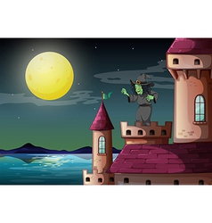 Castle Witch vector image vector image