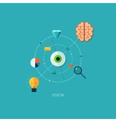 Creative process vision flat web infographic vector image