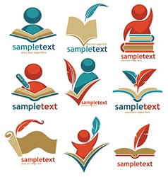 educational logo collection vector image