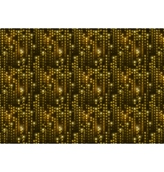 Golden matrix symbols digital binary code on vector image