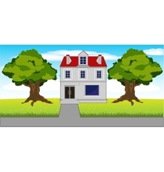 Mansion on nature vector image vector image