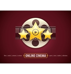 Online cinema icon logo vector image vector image