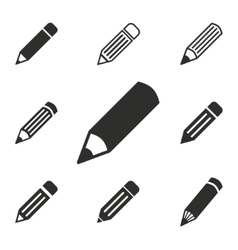 Pen icon set vector image vector image