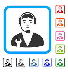 service operator framed pitiful icon vector image
