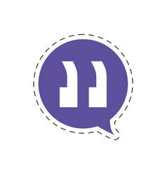 speech bubble speak icon vector image