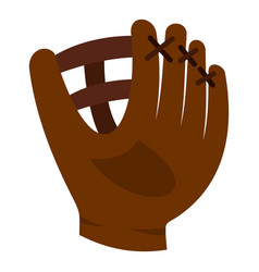 brown leather baseball glove icon isolated vector image