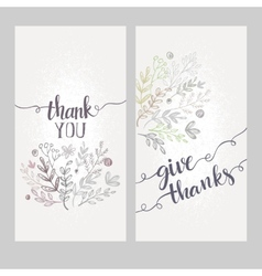 Card with the words thank you vector image