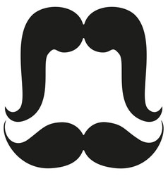 cartoon icon poster man father dad day mustache vector image