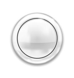 Empty White Button vector image
