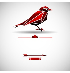 Modern background with triangle bird vector image