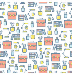 office stationery and equipment seamless pattern vector image vector image