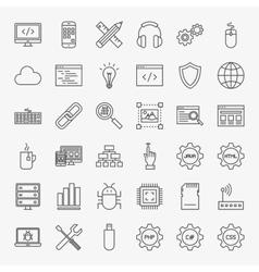 Programming Line Icons Set vector image