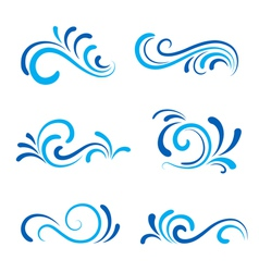 Wave icons vector image