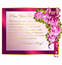 copy space with roses vector image vector image