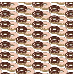Glazed donuts pattern vector image vector image