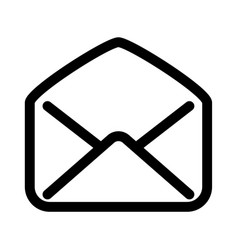 open mail envelope icon symbol of read e-mail vector image