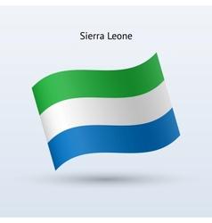 Sierra Leone flag waving form vector image vector image