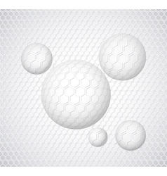 Abstract background with round shapes vector image vector image