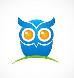 bird owl hand drawn logo vector image vector image