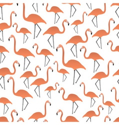 flamingos seamless pattern eps10 vector image vector image