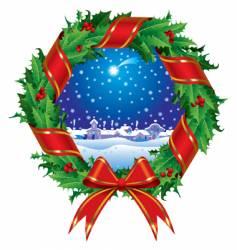 holly wreath vector image vector image
