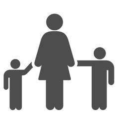 Mother Children Flat Icon vector image vector image