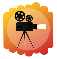 movie projector icon retro cinema and film sign vector image vector image