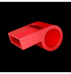 red whistle vector image vector image