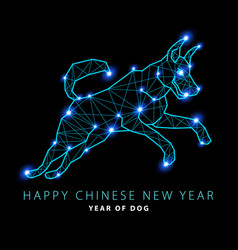2018 new year of canis major dog constellation vector