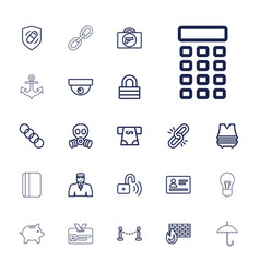 22 security icons vector