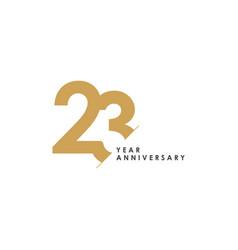 23 year anniversary template design vector