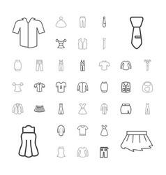 37 apparel icons vector