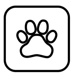 a square application button with an animal vector image