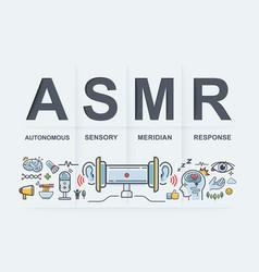 Asmr banner autonomous sensory meridian response vector