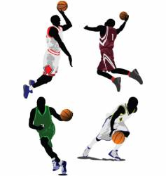 baseketball players vector image