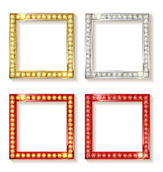 Big set of retro frames vector