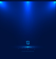 blue stage background with light rays of vector image