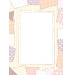 Border a4 patchwork vector