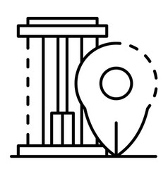 Building location icon outline style vector